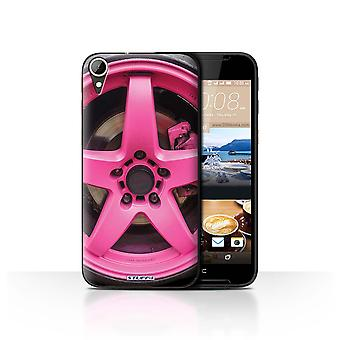 STUFF4 Case/Cover for HTC Desire 830/Pink/Alloy Wheels