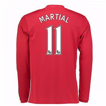 2016-17 Man United Home Long Sleeve Shirt (Martial 11) - Kids