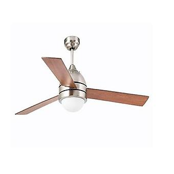 "Faro ceiling fan Capri Nickel matt 132 cm / 52"" with light and remote control"