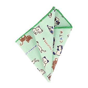 Snobbop handkerchief Hanky Cavalier cloth cats Green