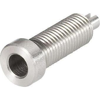Jack socket Socket, vertical vertical Pin diameter: 4 mm Stainless steel