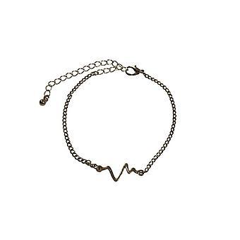 Minimalistische statement armband met hartslag zilverkleurig