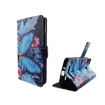 Mobile phone case pouch for mobile Xiaomi Redmi of 3s blue butterfly