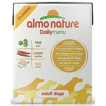 Almo Nature Daily Menu Dog Chicken & Turkey 375g (Pack of 12)