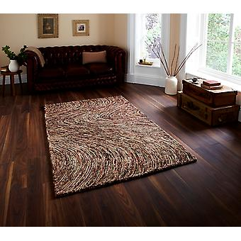 High Class Stylish Green & Brown Mix Wool Rug - Sonora