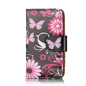Design Book Leather case cover for Samsung Galaxy S2 i9100 - Gerbera
