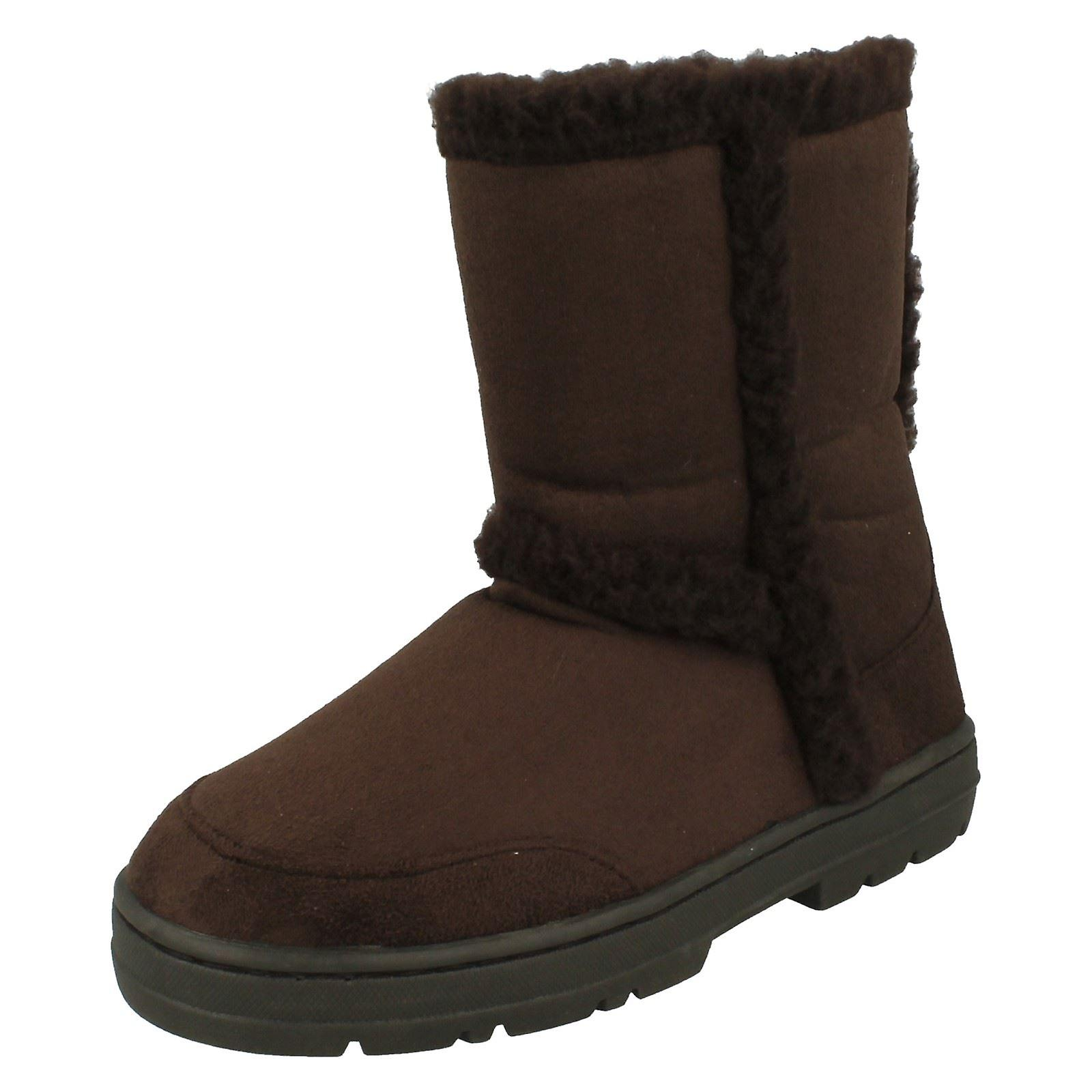 Ladies Spot On Fleece Lined Ankle Boots F5621