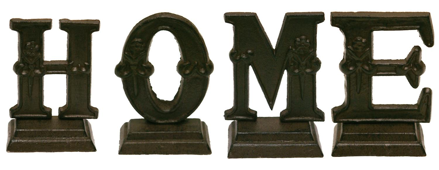Iron Ornate Standing Monogram Letter H Tabletop Figurine 5 Inches