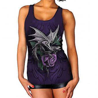 Wild Star - DRAGON BEAUTY - Womens Vest Top  - Purple