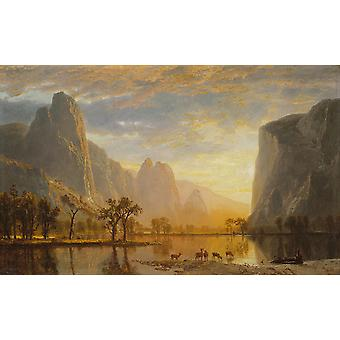 Albert Bierstadt - Valley of the Yosemite Poster Print Giclee