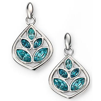925 Silver Swarovski Crystal And Plated Rhodium Earring