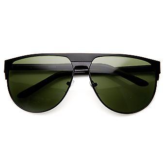 Telaio in metallo grande moda moderna occhiali da sole Aviator Flat Top