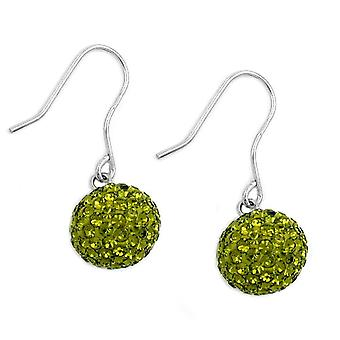 Silver rhinestone earrings earrings rhinestone earrings olive green 925 sterling silver