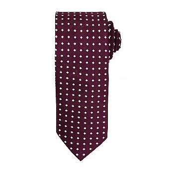 Premier Mens Square Pattern Formal Work Tie