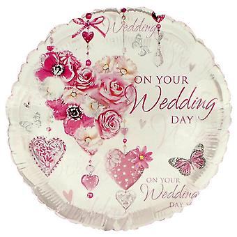 Simon Elvin 18 Inch On Your Wedding Day Foil Balloon