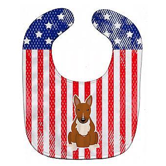 Каролинских сокровища BB3129BIB патриотических США бультерьер красный ребенок нагрудник
