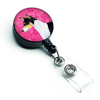 Basenji retrattile Badge Reel o ID titolare con Clip SS4790