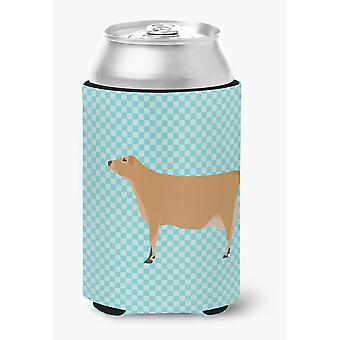 Carolines Treasures  BB8003CC Jersey Cow Blue Check Can or Bottle Hugger