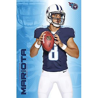 Tennessee Titans - M Mariota 15 Poster Poster Print