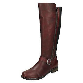 Ladies Remonte Double Zip Knee High Boots R3358