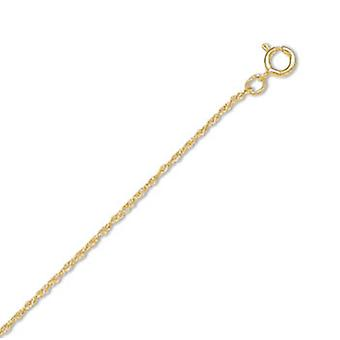 14/20 Gold Filled 1mm Rope Chain Necklace 1mm Wide With Spring Ring Closure - Length: 16 to 18