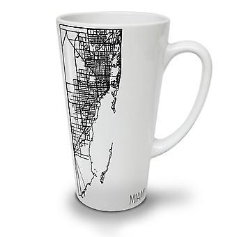 Miami City Map Fashion NEW White Tea Coffee Ceramic Latte Mug 17 oz | Wellcoda