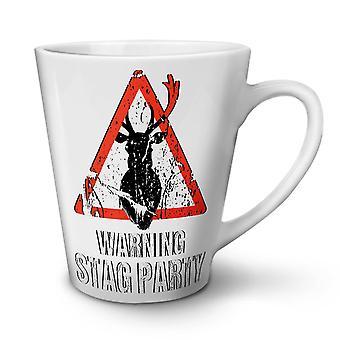 Warning Party Funny NEW White Tea Coffee Ceramic Latte Mug 17 oz | Wellcoda