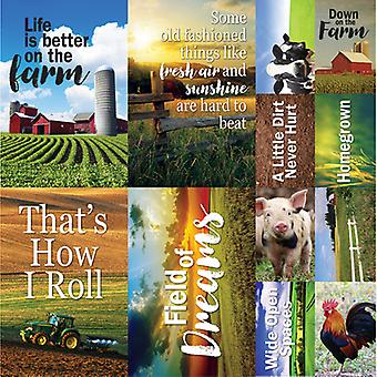 At The Farm Poster Stickers 12