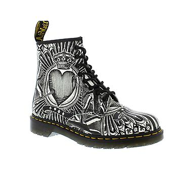 Dr Martens 1460 - Egret Playing Card ripetere Boots Mens Backhand (nero)