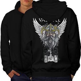 Valholl North War Men BlackHoodie Back | Wellcoda