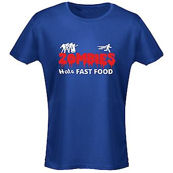Zombies Hate Fast Food Funny Womens T-Shirt 8 Colours by swagwear
