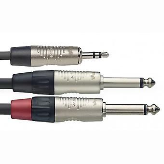Stagg serie N Y cable 1m estéreo Mini Jack/2 x Jack Mono