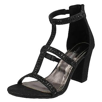 Ladies Anne Michelle Diamante Sandals F6025