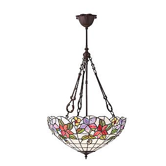 Interiors 1900 70747 Country Border Large 3 Light Tiffany Ceiling Pend