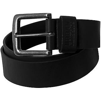 Urban classics - faux leather belt black