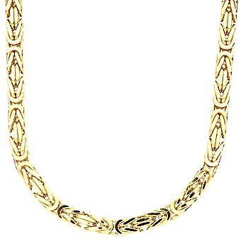Sterling 925 Silver King chain - DOTTE 6x6mm gold