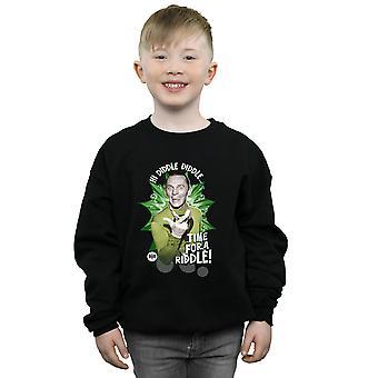 DC Comics Boys Batman TV Series The Riddler Time for a Riddle Sweatshirt