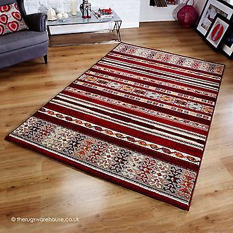 Zante rayures tapis rouge