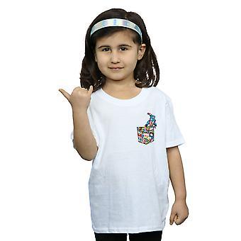 Marvel Captain America Faux Pocket T-Shirt für Mädchen