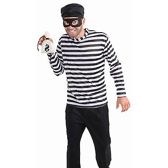 Burglar Bank Robber Thief Criminal Convicted Funny Men Costume STD