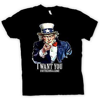 Dame T-shirt - jeg vil du Ninja - sjove humor