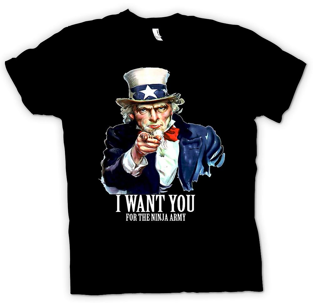Womens T-shirt - I Want You Ninja - Funny Humour
