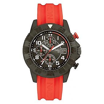 Nautica mens watch wristwatch NAI17514G silicone