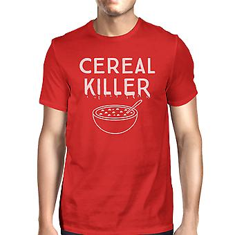 Cereal Killer T-Shirt Mens Red Funny Graphic Halloween Tee Shirt