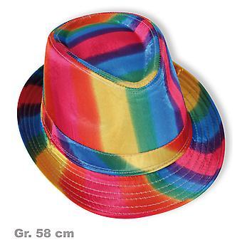 Trilby bunt Herrenhut Regenbogen 70er Jahre