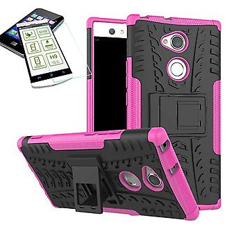 Hybrid 2 piece SWL case Pink for Sony Xperia XA2 ultra bag case + tempered glass new