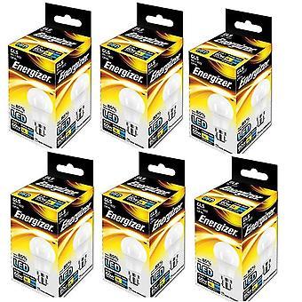 6 x Energizer B22d 9 W, 1 LED-BC (Bajonett-Verschluss) GLS Lampe [Energieeffizienzklasse A +]
