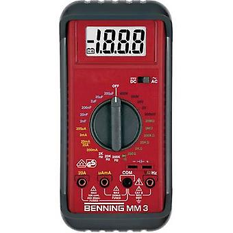 Benning MM 3 Handheld multimeter Digital CAT II 600 V, CAT III 300 V Display (counts): 2000