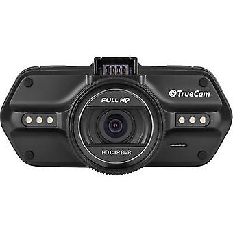 TrueCam A5s Dashcam with GPS Horizontal viewing angle (max.)=130 ° 12 V, 24 V Microphone, Display, Battery