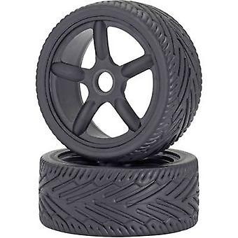 Carson Modellsport 1:8 Road version Wheels On-Road 5-spoke Black 2 pc(s)